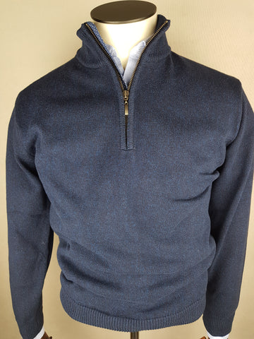 1/4 Zip Knitwear By Tricot Denim Navy