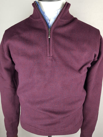 1/4 Zip Knitwear By Tricot Denim Plum DA 1818M-402