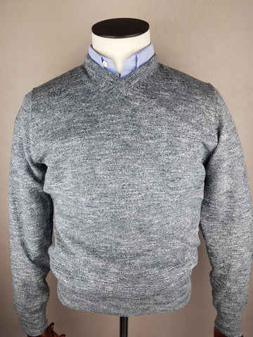 MDV V-Neck Irongate (Grey) Knitwear By 6th Sense