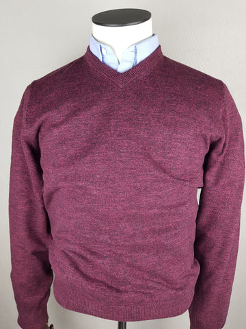 MDV V-Neck Blackbean (Wine) Knitwear By 6th Sense