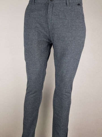 Arval Slim Fit Check Pants Dark Grey By Selected