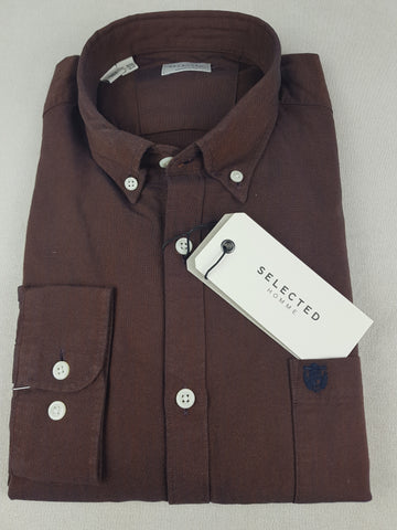 Collect Cotton Casual Brown Shirt By Selected