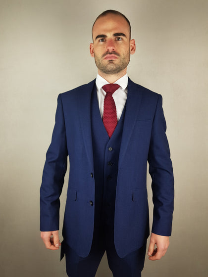 Harcourt Navy Three Piece Suit By Skopes