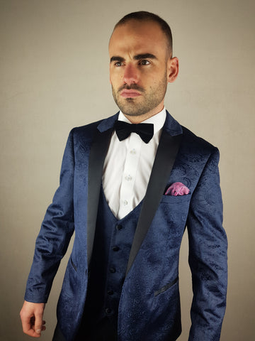 Simon Paisley Design Blazer Navy By Marc Darcy *MM.YY*