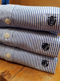 Collect Cotton Casual Blue/White Pinstripe By Selected