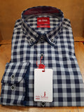 Check Grey/Navy Shirt Casual By 6th Sense (182-DC-Check-08)
