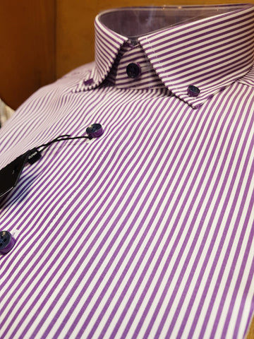 Formal Purple/White Pinstripe Shirt By Olymp 1282/24/95