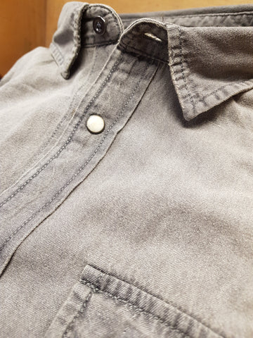 Sheridan Denim Casual Shirt Grey By Jack & Jones