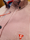 Red Gingham Check Shirt By Tricot Marine