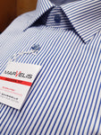 Formal White/Blue Stripe Shirt by Marvelis 7234/24/18