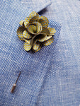 Flower Lapel Pin Light Blue By Michelsons