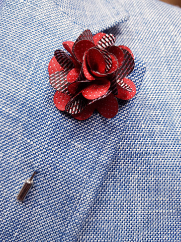 Flower Lapel Pin Red By Michelsons