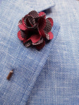 Flower lapel Pin Wine By Michelsons