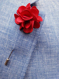 Flower Lapel Pin Bright Red By Michelsons