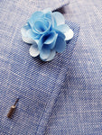 Flower Lapel Pin Ice Blue By Michelsons