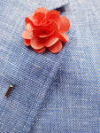 Flower Lapel Pin Peach By Michelsons