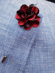 Flower Lapel Pin Dark Red By Michelsons