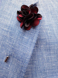 Flower Lapel Pin Burgundy By Michelsons