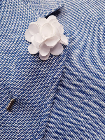 Flower Lapel Pin White By Michelsons