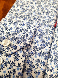 White Floral Print Fashion Shirt By Marvelis 7512/34/11
