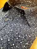 Navy Floral Print Fashion Shirt By Marvelis 7512/34/18