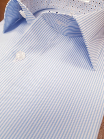 Blue/White Pinstripe Formal Shirt By Marvelis 7212/34/11
