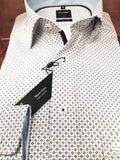 White Print Formal Print Shirt By Olymp 1214/34/28