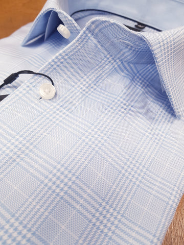 Blue Formal Check Shirt By Olymp 1244/34/11
