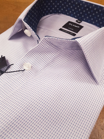 White/Lilac,Blue Fleck Formal Shirt By Olymp 1250/34/30