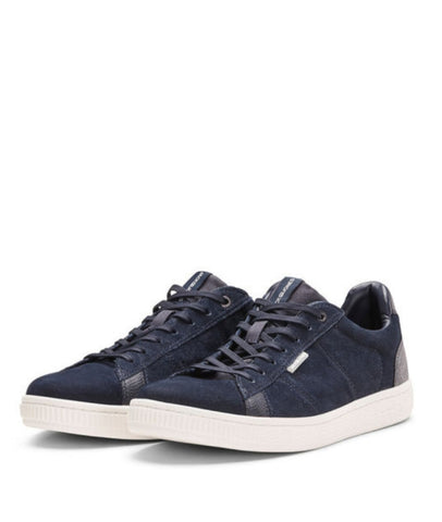 Wolly Nubuck Navy Trainers By Jack & Jones
