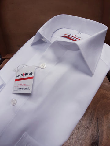 White Modern Fit Shirt By Marvelis 4700/64/00