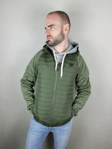 Multi Quilted Green Jacket By Jack & Jones