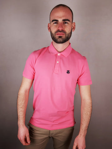 Haro Pink Polo Shirt By Selected