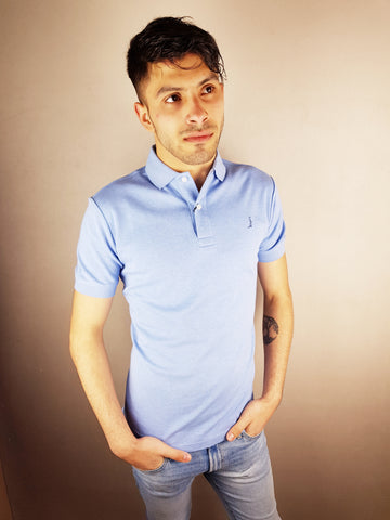 Blue Egypt Polo Shirt By 6th Sense