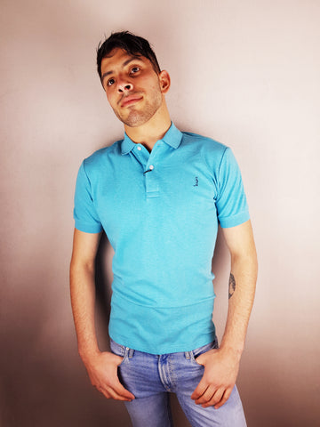Eqypt Aqua Polo Shirt By 6th Sense