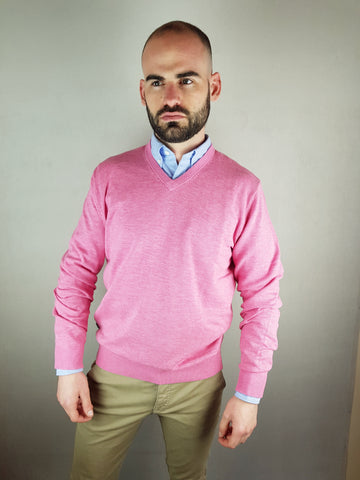 Rose V Neck Knitwear By 6th Sense