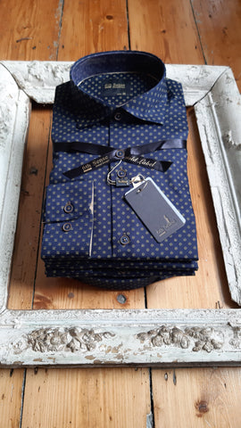 Print Navy Shirt 192Cac By 6th Sense