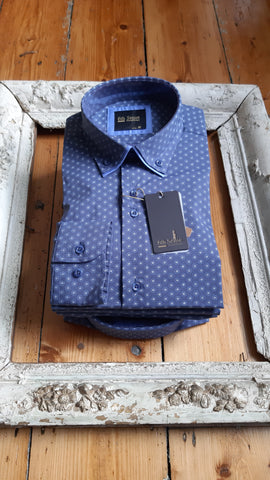 Mid Blue Shirt 192/28 By 6th Sense