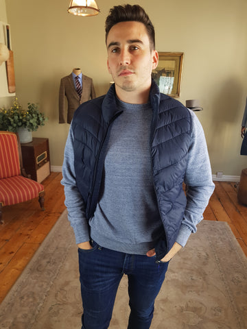 Crisp Gilet Navy By Selected