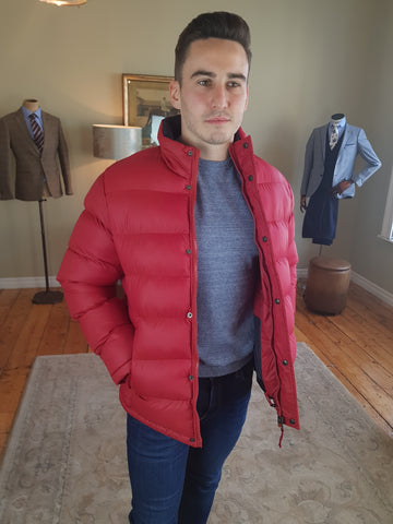 Padded Red Casual Jacket By  Vedoneire