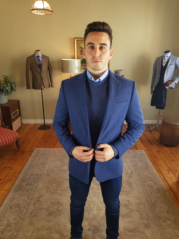 Hafren Blue Sports Jacket/Blazer By Skopes