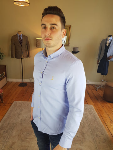 Harold Pale Blue Shirt By 6th Sense
