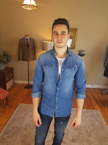 Sheridan Denim Casual Shirt Blue By Jack & Jones