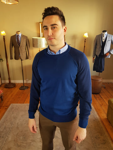 1921 24 Two Tone Blue Knitwear By Tricot Denim