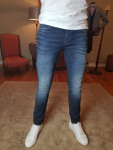 Leon Dark Blue Slim Fit Jeans By Selected