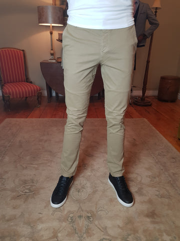 Luca Greige Chino Pants By Selected