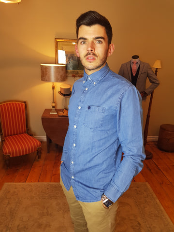 Collect Blue Denim Shirt By Selected