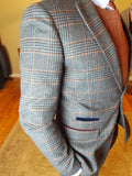 Luca Navy Check Blazer By Marc Darcy