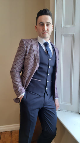 Darcy Wine 3 Piece Suit By Benetti