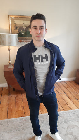H Zip Navy Jacket By Selected